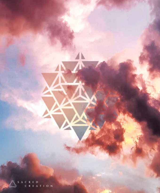 64 Tetrahedron Grid Wallpaper Art