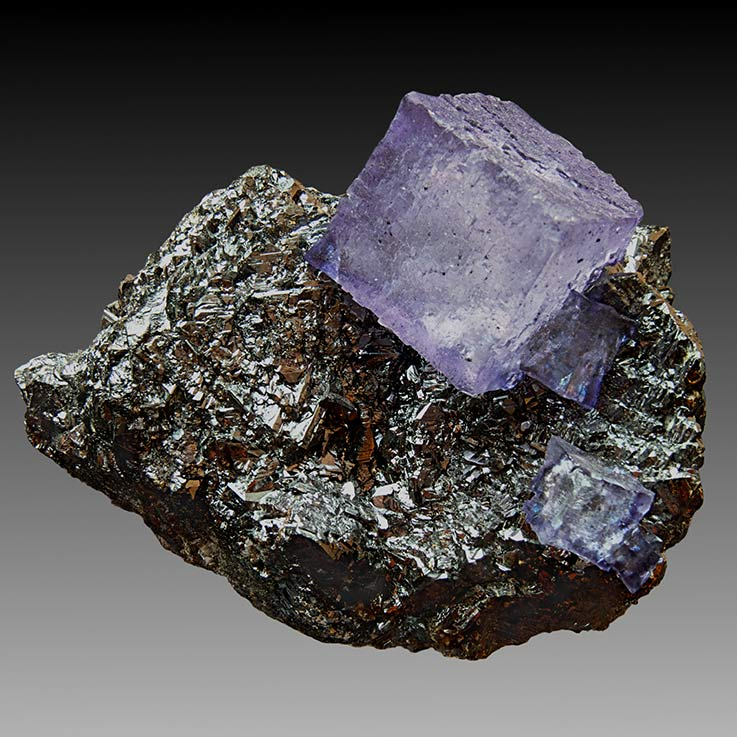 Fluorite and Sphalerite - Perfect Cube