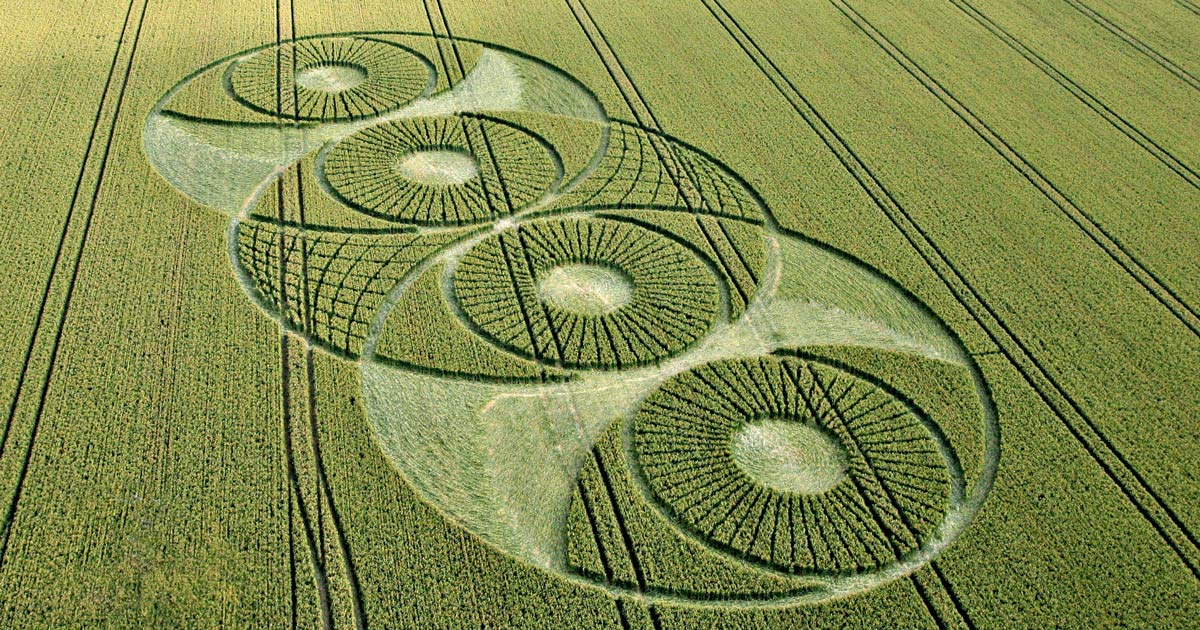 Vesica Piscis Crop Circle