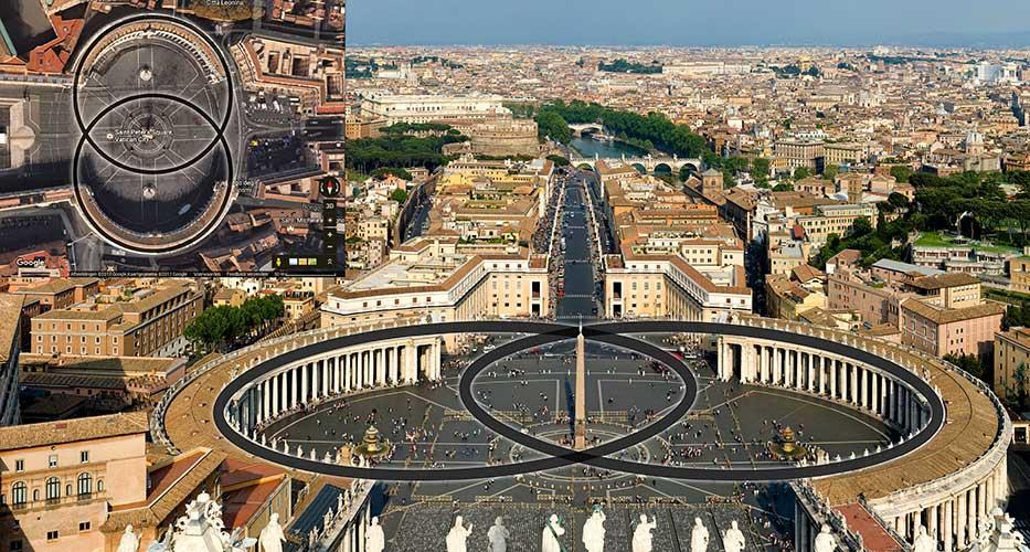 The Vatican Rome Vesica Piscis