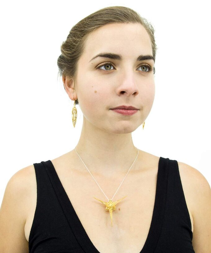 Angelic Star Pendant - Gold Plated Brass