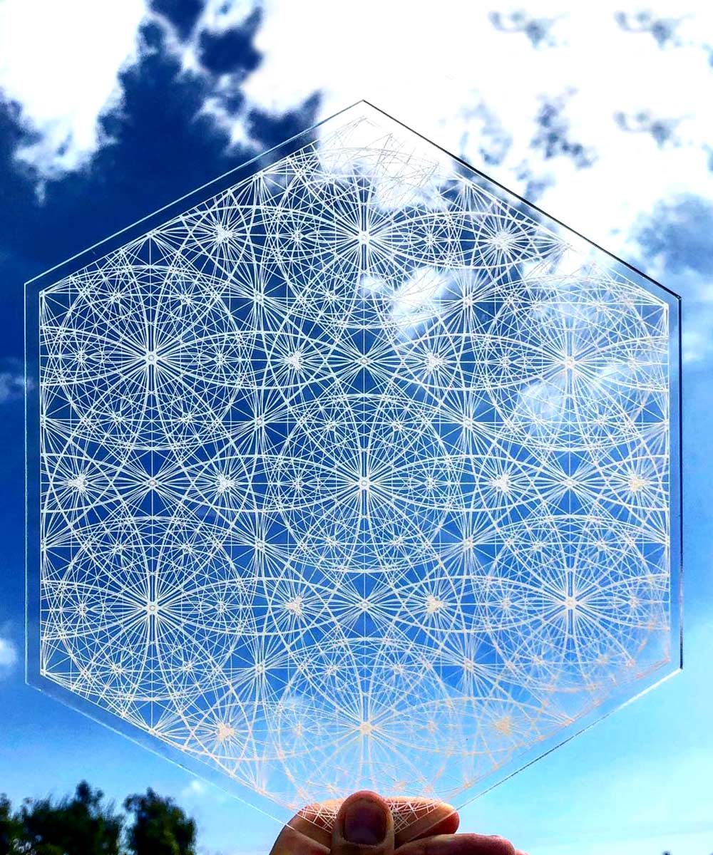 Crystal Grid Angelic Flower Of Life Water Vitalizer