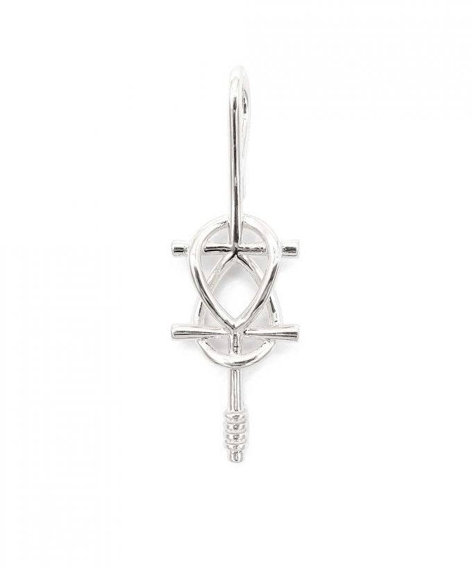 Double Ankh Pendant Sterling Silver