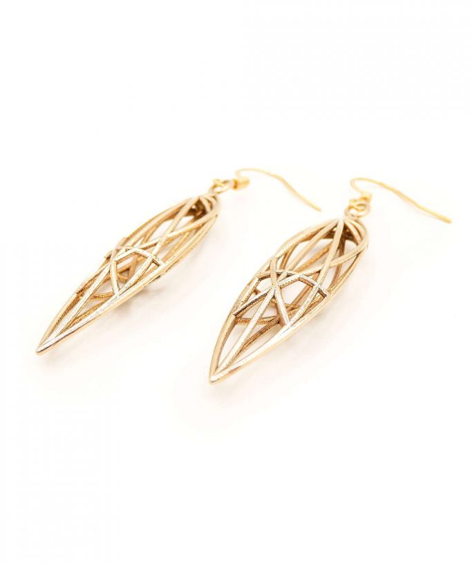 Magdalene Earrings Brass
