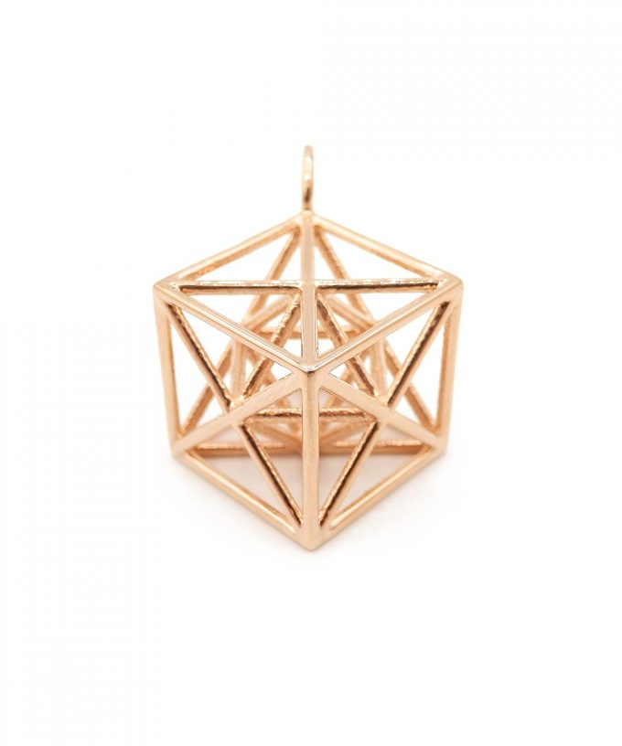 Metatron Cube 14K Rose Gold