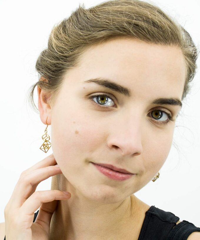 Metatron Cube Earrings - long