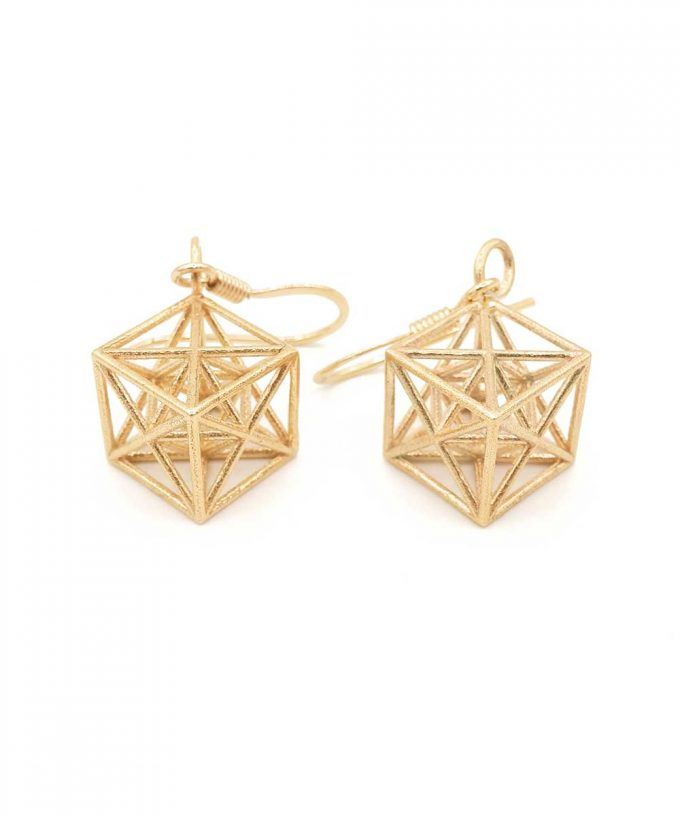 Metatron Cube Earrings