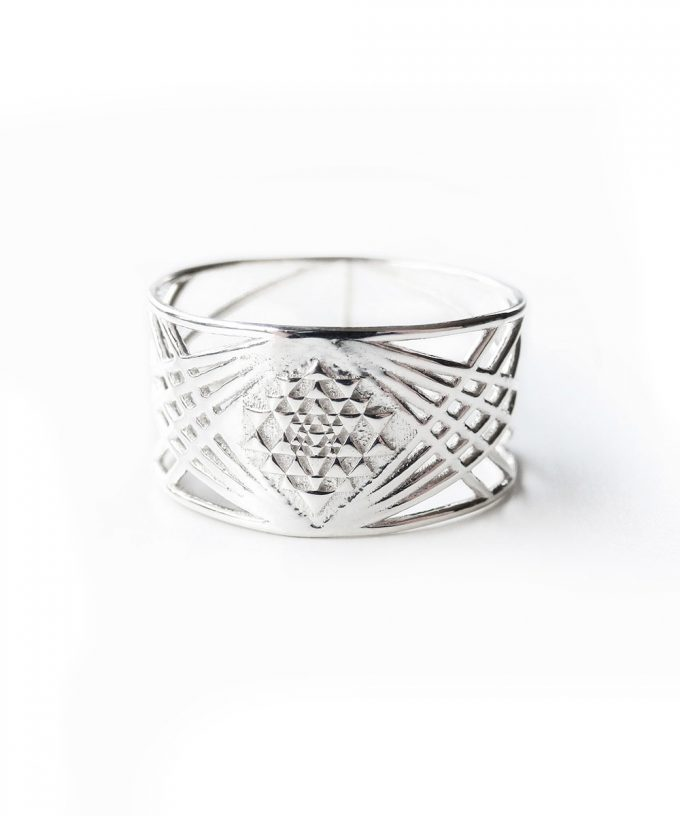 Sri Yantra Ring Silver
