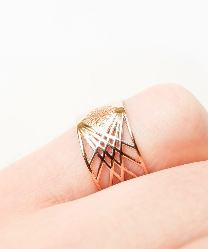 Sri Yantra Ring Rose Gold