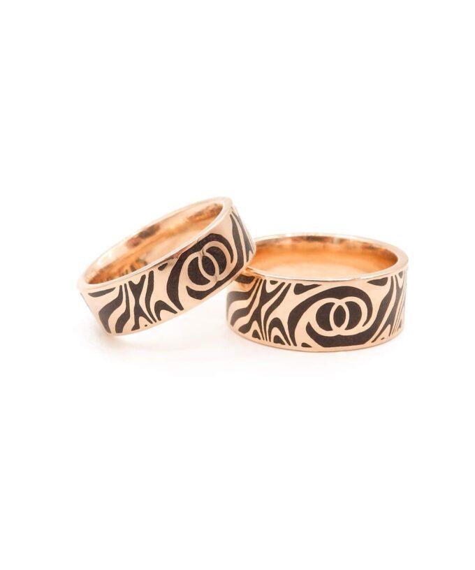 Twin Soul Wedding Ring - Rose Gold