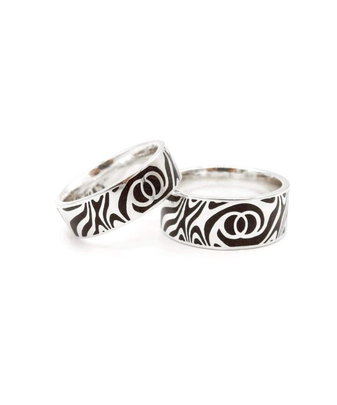 Twin Soul Wedding Ring - Sterling Silver