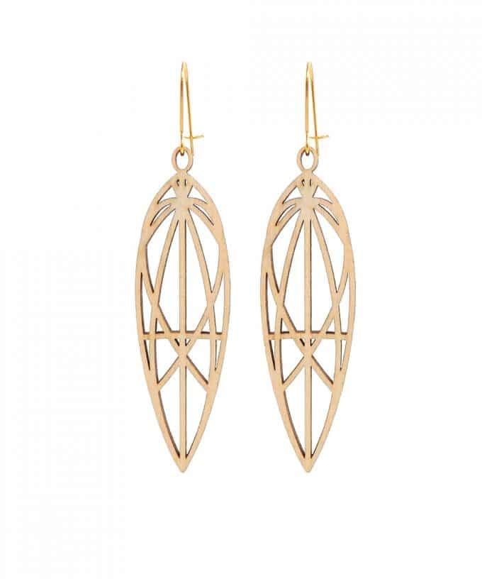 Mary Magdalene Wooden Earrings