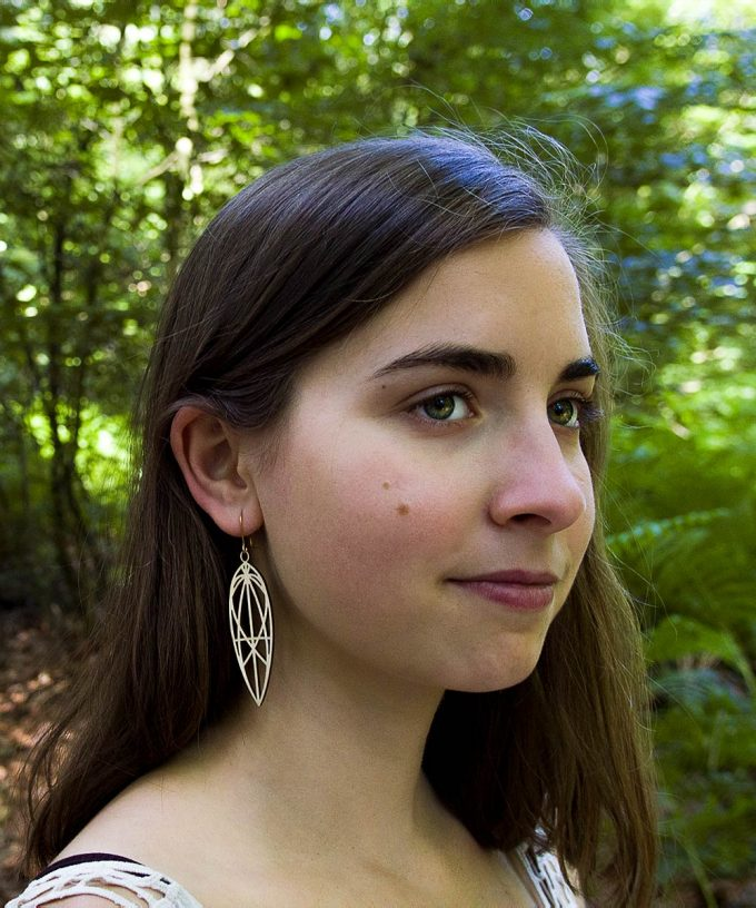 Mary Magdalene Birchwood Earrings