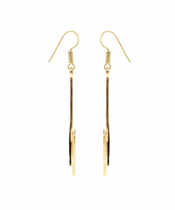 Shooting Star Earrings Brass