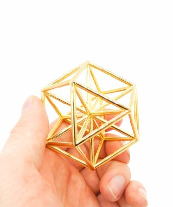 Vector Equilibrium - Meditation Tool - Gold Plated Brass