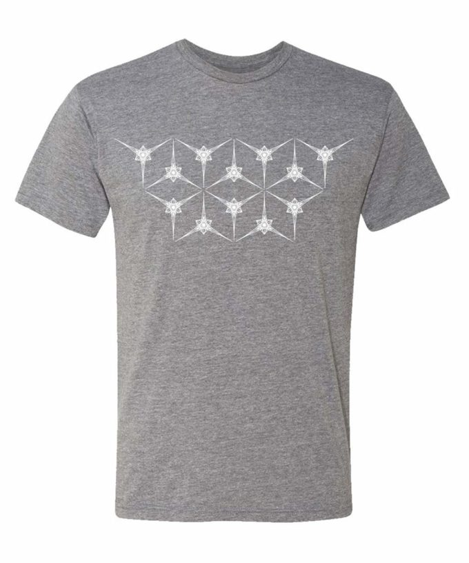 Angelic Star Grid Unisex T-Shirt - Grey Heather