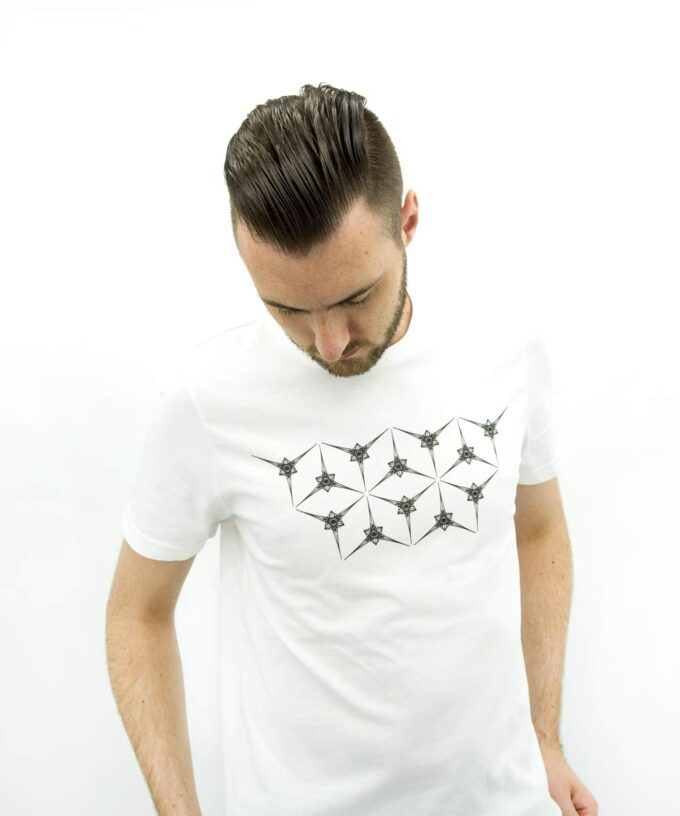 Angelic Star Grid - Unisex T-Shirt White