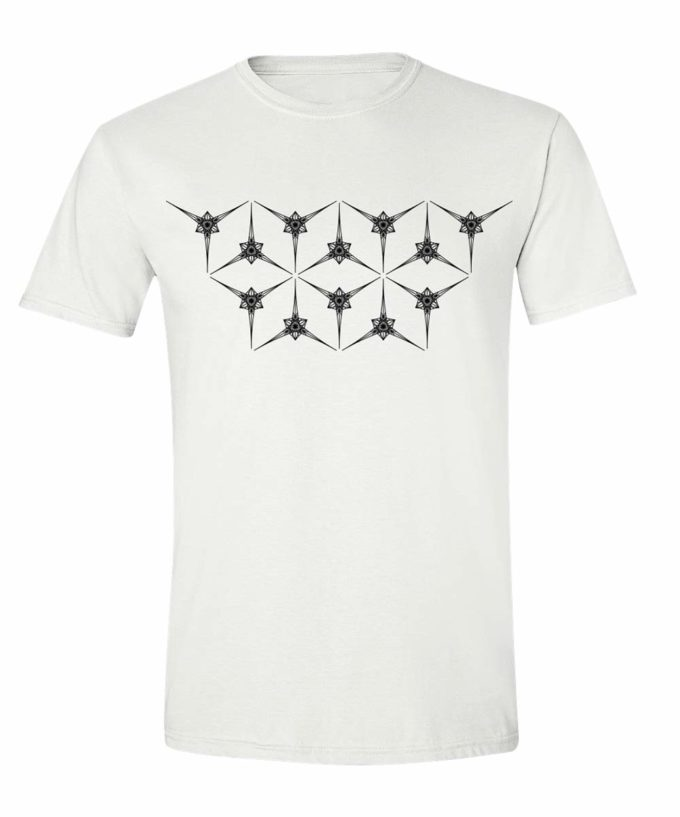 Angelic Star Grid Unisex T-Shirt - White