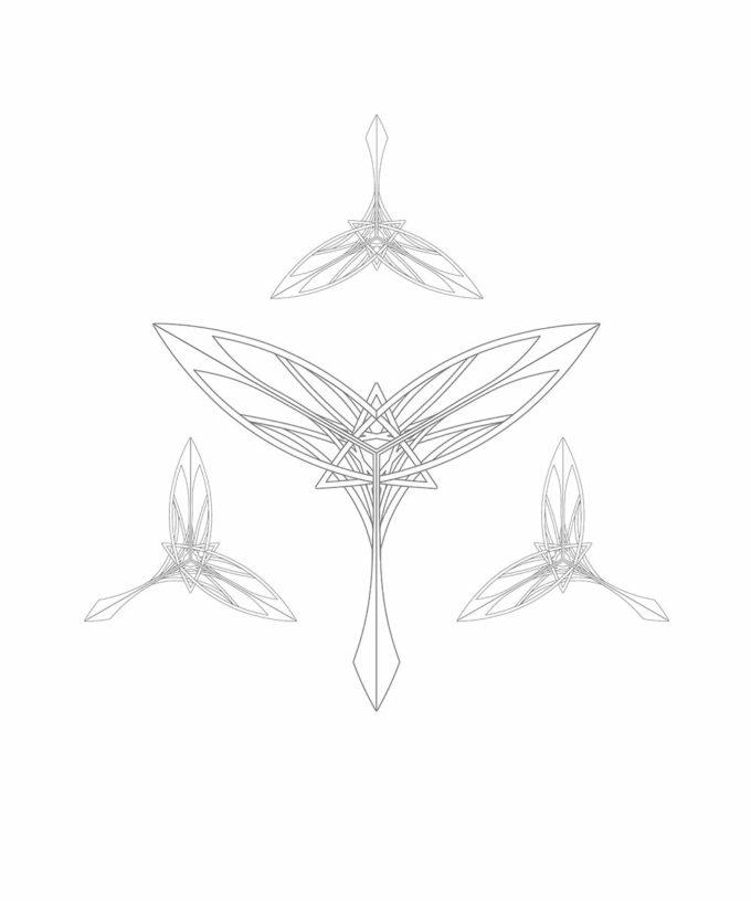 Guardian of Gaia Unisex T-shirt Pattern