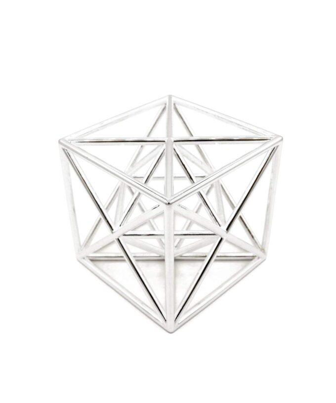 Metatron Cube Meditation Tool - Rhodium