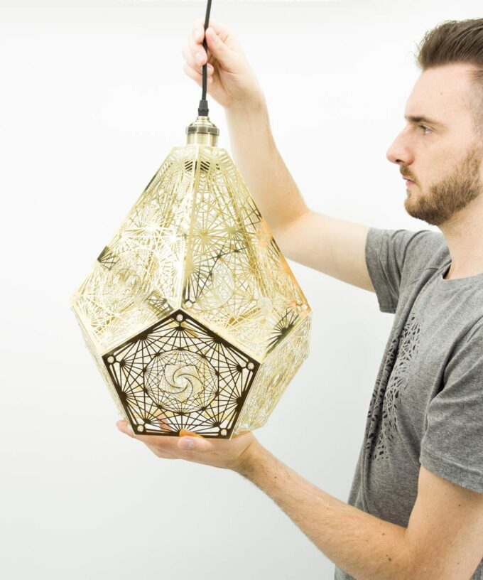 Dodecahedron Pendant Lamp
