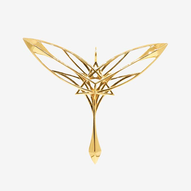 Guardian of Gaia Pendant - Gold Plated Brass