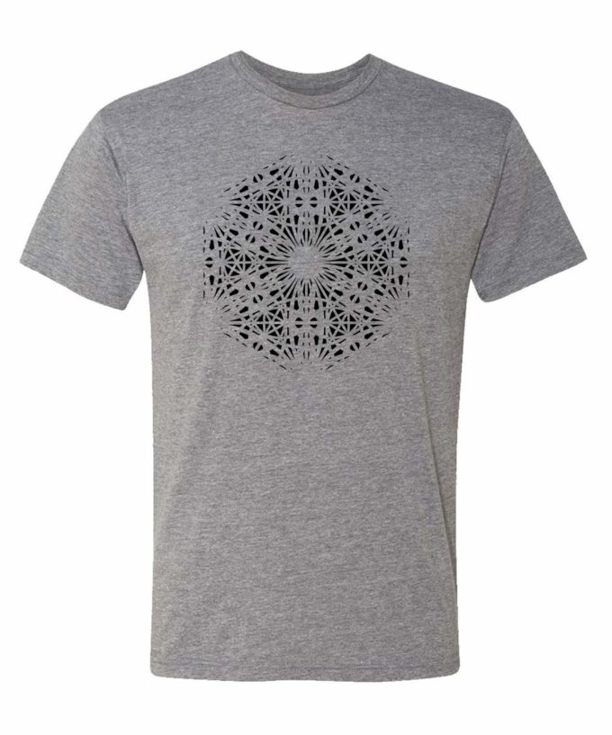 Magdalene Grid T-Shirt - Grey Heather - Black Print