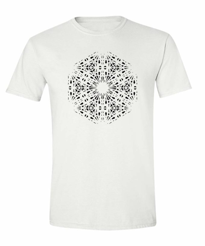 Magdalene Grid T-Shirt - White - Black Print