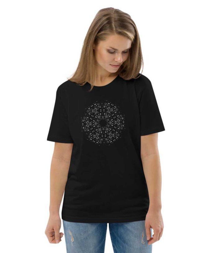 Mary Magdalene Grid Unisex T-shirt - Black
