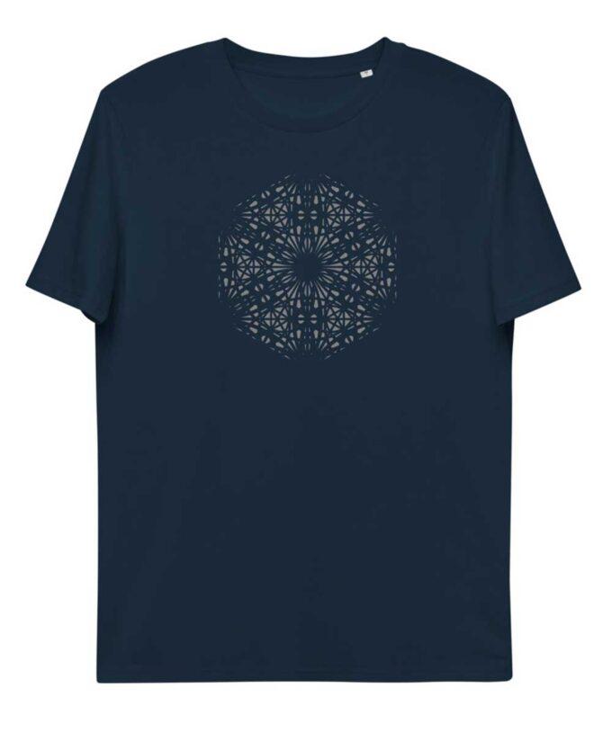 Mary Magdalene Grid Unisex T-shirt - French Navy