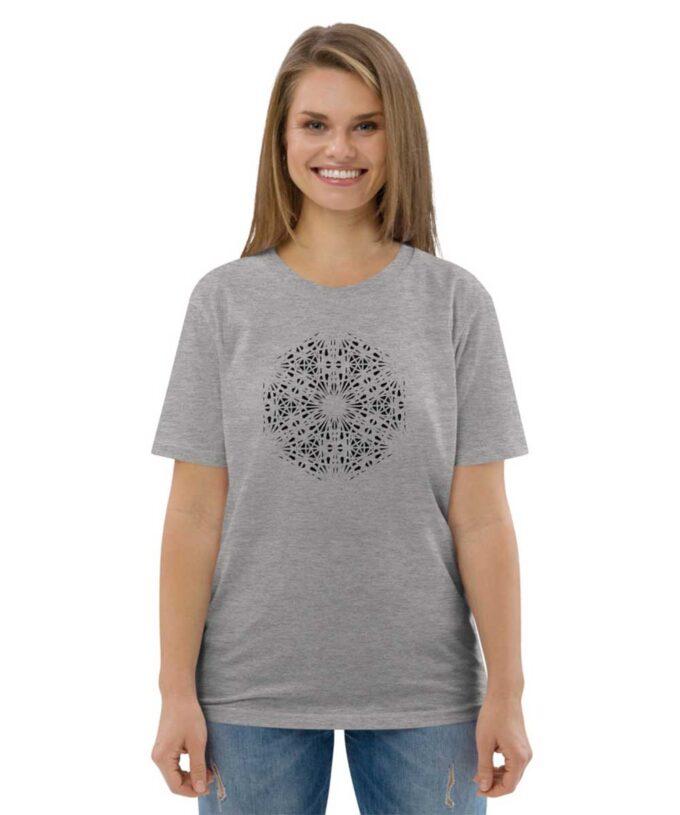Mary Magdalene Grid Unisex T-shirt - Grey Heather