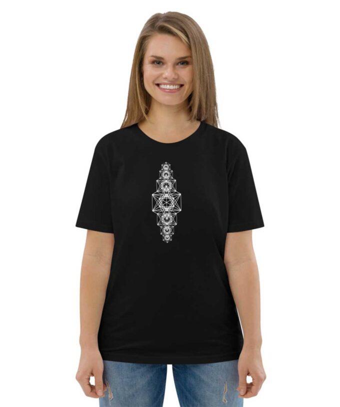 Metatron Chakra Unisex T-shirt -Black