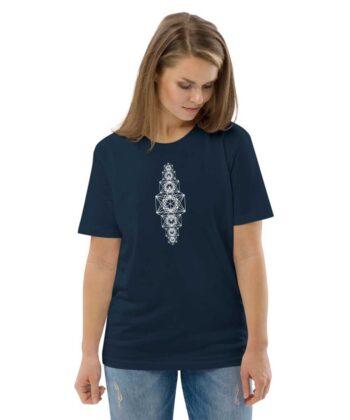 Metatron Chakra Unisex T-shirt - French Navy