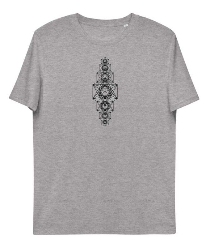 Metatron Chakra Unisex T-shirt - Grey Heather