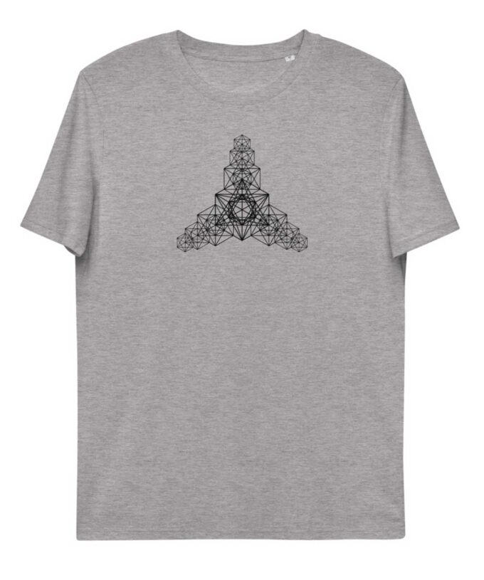 Metatron Hypercube Unisec T-shirt - Grey Heather