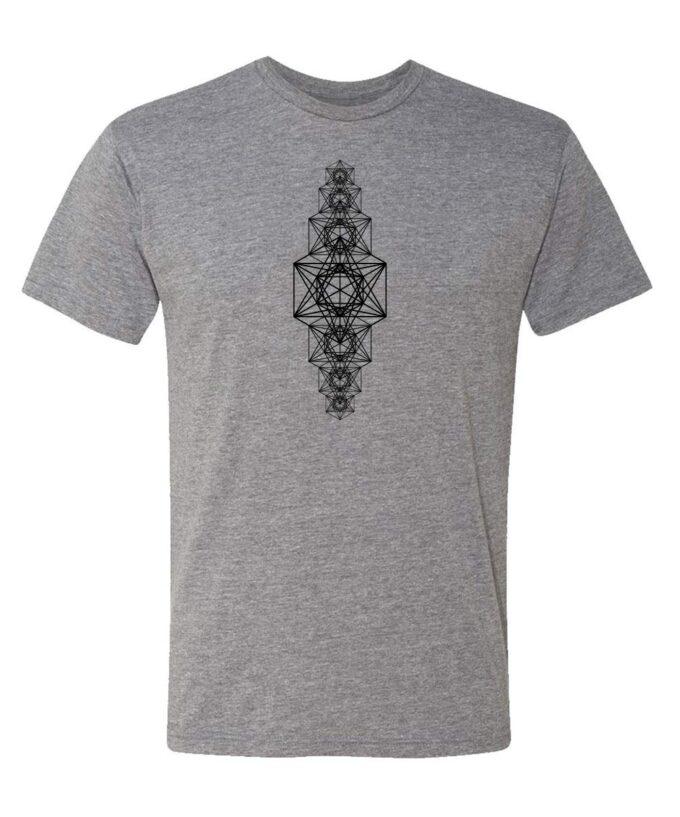Metatrons Chakra Grid Unisex T-shirt grey