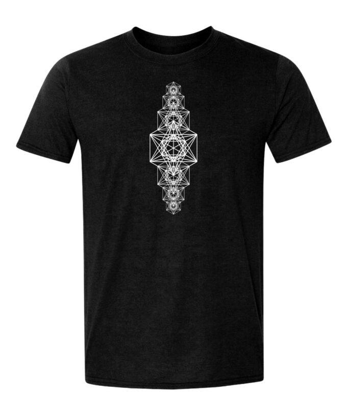Metatrons Chakra Grid Unisex T-shirt black