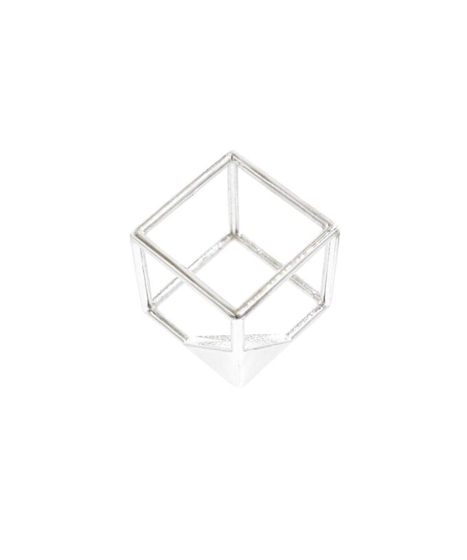 Cube Pendant - Sterling Silver