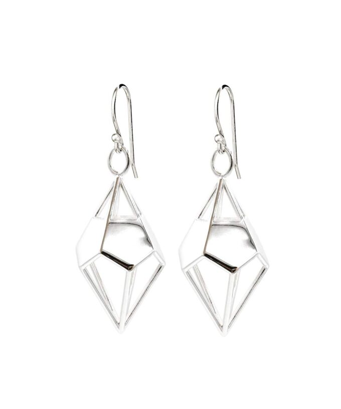 Deltohedron Earrings - Sterling Silver