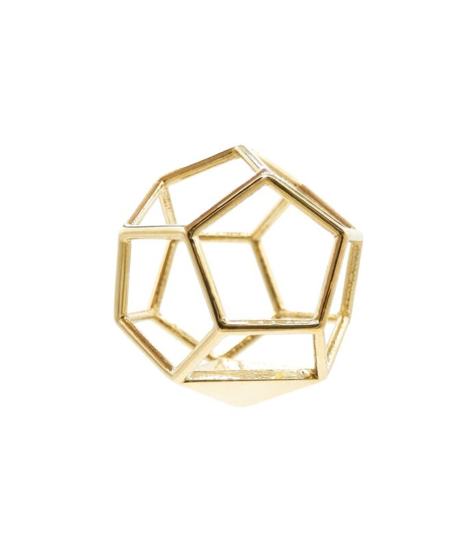 Dodecahedron Pendant - Brass