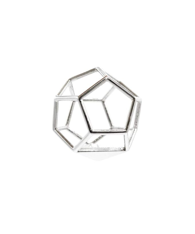 Dodecahedron Pendant - Sterling Silver