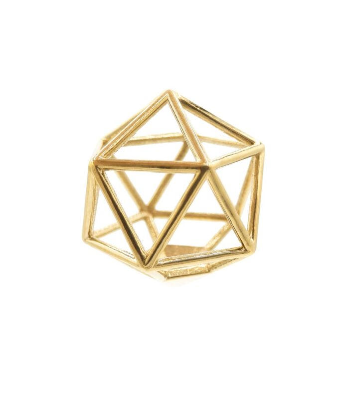 Icosahedron Pendant - Brass