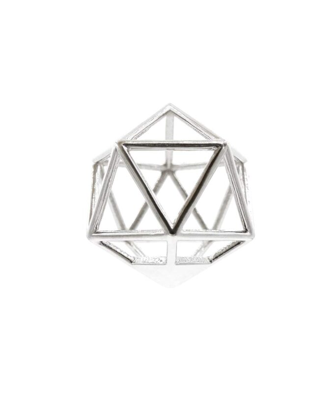Icosahedron Pendant - Sterling Silver