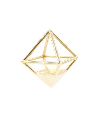 Octahedron Pendant - Brass