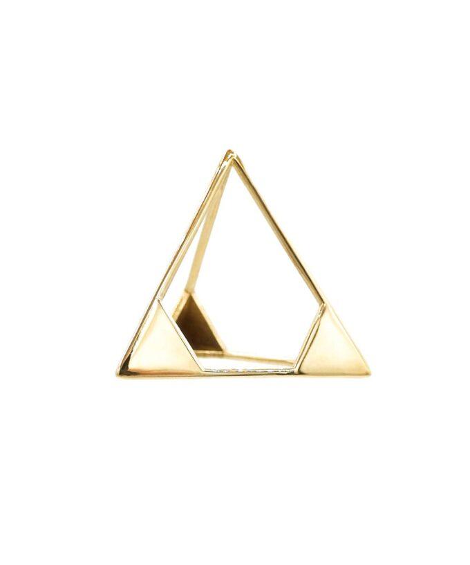Tetrahedron Pendant - L - Brass