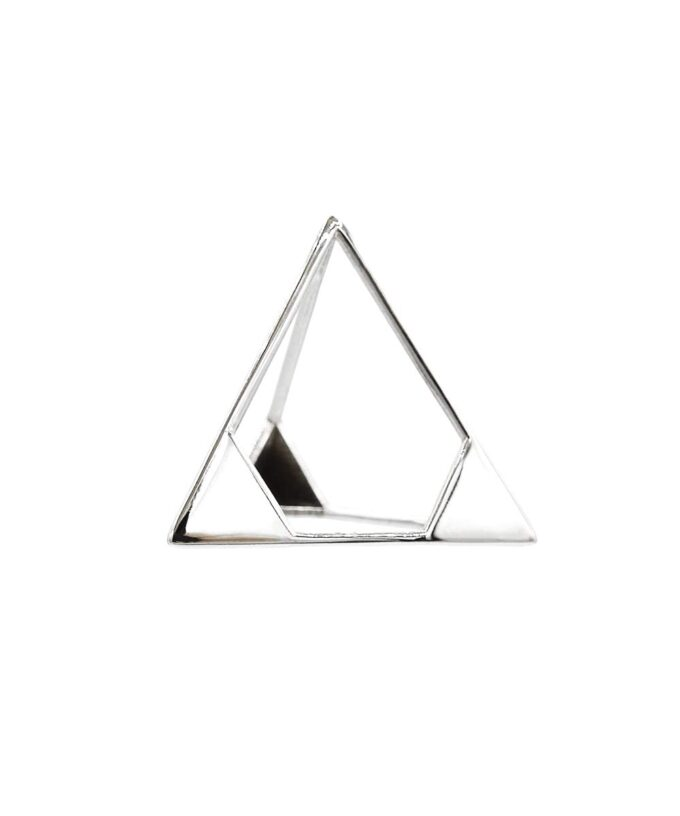 Tetrahedron Pendant - L - Sterling Silver