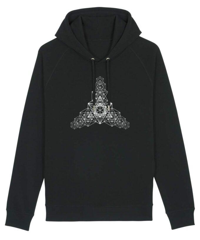 Metatron Hypercube Hoodie Black