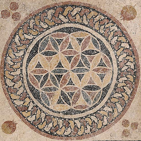 Mosaic floor from a bathhouse in Herods palace