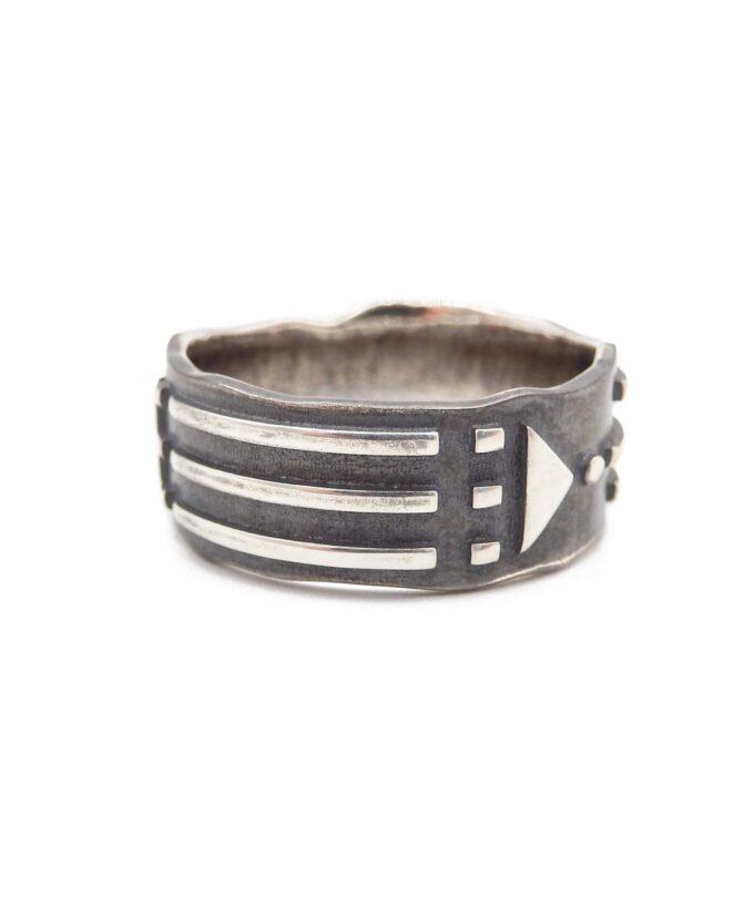 Atlantis Ring Solid - Blackened-Sterling Silver