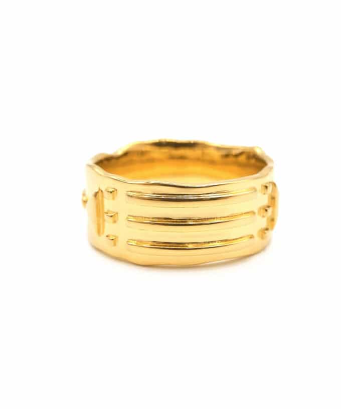Atlantis Ring - Solid - Gold Plated Brass
